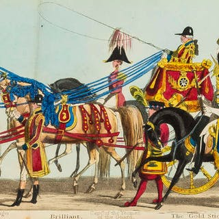 Coronation of Queen Victoria.- Fores' Correct Representation of The