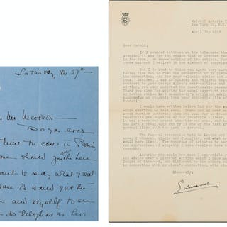 Edward VIII. Typed Letter signed to Harold Nicolson, 1953; and another