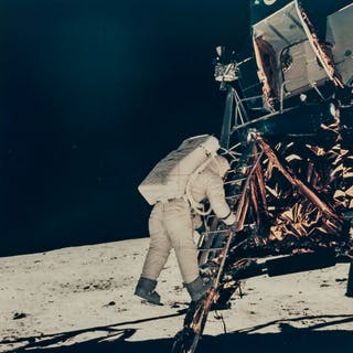 Armstrong (Neil) and Buzz Aldrin. Buzz Aldrin and the lunar module
