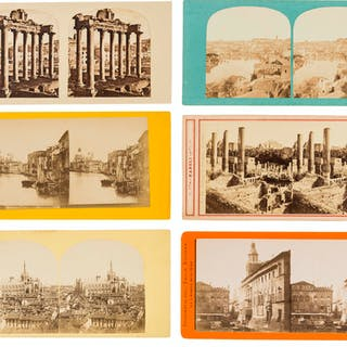 Italy.- Stereocards.- A collection of over 220 views of Italy including
