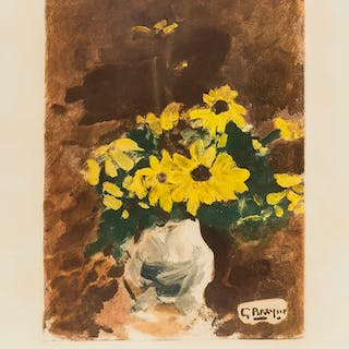 Georges Braque (1882-1963) (after) Vase de Fleurs Jaunes (Maeght 1039)