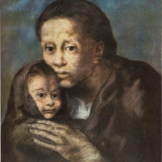 Pablo Picasso (1881-1973) (after) Mother and Child with Shawl (CZW