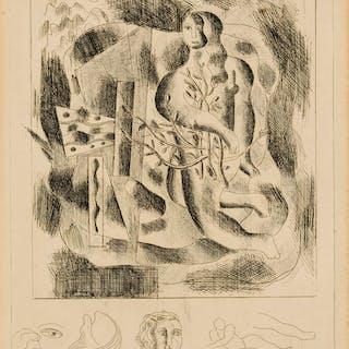 Fernand Léger (1881-1955) Nu au feuillage, Fernand Léger (1881-1955)