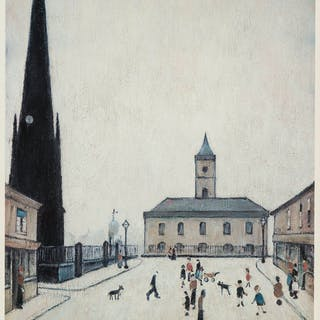Laurence Stephen Lowry (1887-1976) (after) Old Town Hall, Middlesbrough