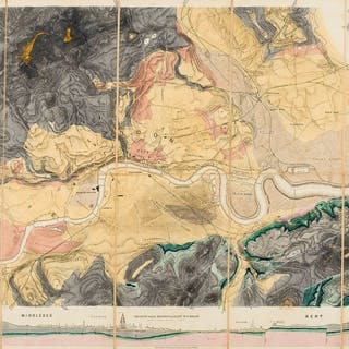 London.- Mylne (R.W.) Geological Map of London and its Environs, 1858.