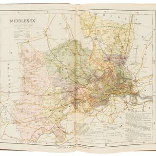 Atlases.- Letts, Son & Co. (Publishers) Letts's Popular County Atlas.