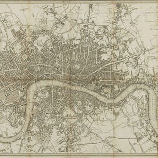 London.- Boys (T.) A New Map of London, Westminster, Southwark and