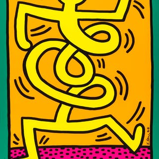 Keith Haring (1958-1990) Montreux 1983 (Prestel 9), Keith Haring (1958-1990)