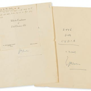 Bates (H.E.) Love for Lydia, autograph manuscript signed, 1951-52.