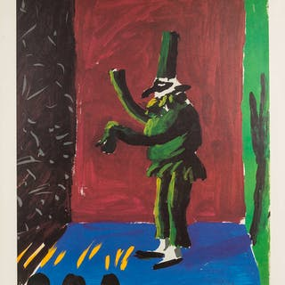 David Hockney (b.1937) (after) A poster for Young Playwrights Festival