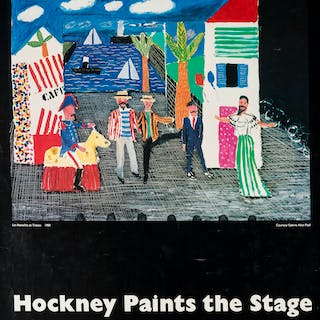 David Hockney (b.1937) (after) A poster for Hockney Paints the Stage