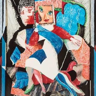 David Hockney (b.1937) (after) A poster for Tyler Graphics Print Retrospective