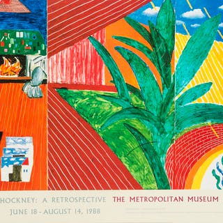 David Hockney (b.1937) (after) A poster for David Hockney: A Retrospective