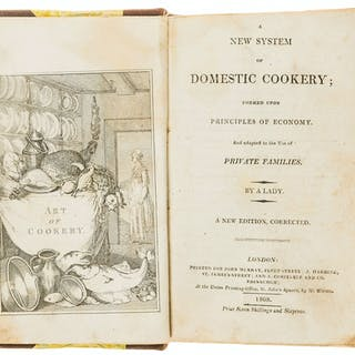 Cookery.- [Rundell (Maria Eliza)] A New System of Domestic Cookery;