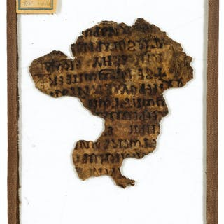 Drunkenness.- ?Athanasius (Saint) Fragment of a leaf on parchment