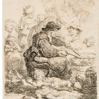 Rembrandt van Rijn (1606-1669) The Pancake Woman, 1635. Rembrandt