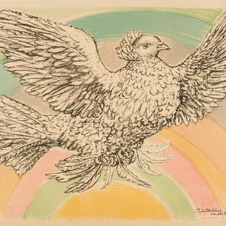 Pablo Picasso (1881-1973) Colombe Volant (à l'arc-en-ciel) (Bloch