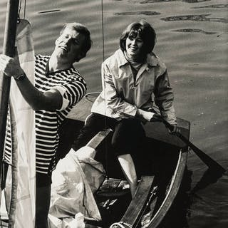 Norman Parkinson (1913-1990) Models in Boat; Couple at Table with