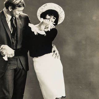 Norman Parkinson (1913-1990) Nicole de la Marge Giggling; Arms Wrapped