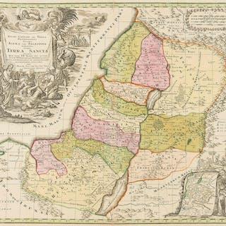 Holy Land.- Seutter (Matthäus) Regio Canaan seu Terra Promissionis