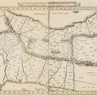 Middle East.- Ptolemy.- Sylvanus (Bernardus) Quinta Asiae Tabula