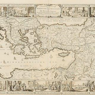 Holy Land.- Eastern Mediterranean.- Visscher (Nicolas) Geographische