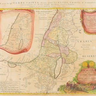 Holy Land.- Homann (Johann Baptist) Carte de la Terre Sainte Divisee