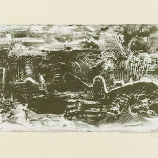 Henry Moore (1898-1986) Earthquake in Harbour, Henry Moore (1898-1986)