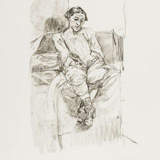 Paula Rego (b.1935) Girl Reading, Paula Rego (b.1935), Girl Reading