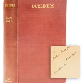 Joyce (James) Dubliners, first edition, signed presentation inscription