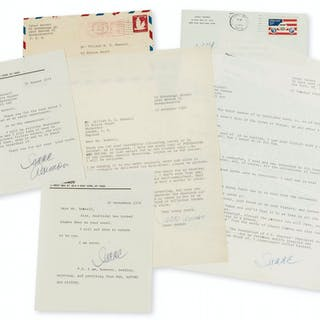 Asimov (Isaac) 4 Typed Letters signed to Professor William M. S. Russell