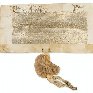 Henry VI. King's Pardon issued to William Bulkeley in Eyton [Eaton]