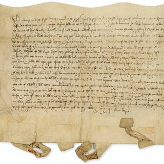 Leicestershire.- Henry VIII.- Indenture of a bargain and sale from