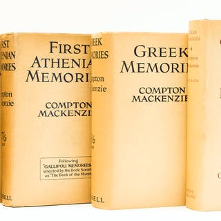 Mackenzie (Compton) Gallipoli Memories, first edition, 1929; and 3