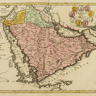 Middle East.- Weigel (Christoph) Arabiae Veteris Typus, [c. 1720]