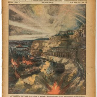 Malta.- World War II.- Illustrazione del Popolo. La Valetta, Capitale