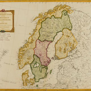 Scandinavia.- Laurie & Whittle (publishers) A New Map of the Northern