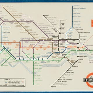 London.- Beck (Henry C.) [Map of London's Underground Railways], Edition