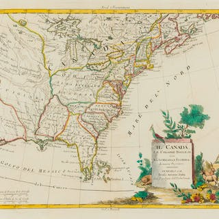 Americas.- Zatta (Antonio) Il Canada, le Colonie Inglesi con la Luigiana