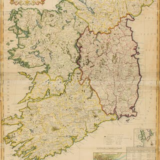 Ireland.- Moll (Herman) A New Map of Ireland Divided into its Provinces