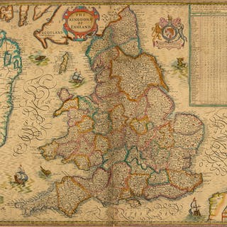England & Wales.- Speed (John) The Kingdome of England, 1610 [but