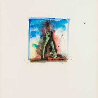 Jim Dine (b.1935) From 'Ten Hand-Colored Winter Tools II' (Carpenter