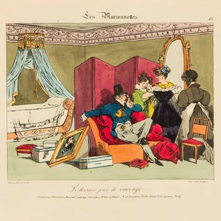 Costume & Caricature.- Monnier (Henri) [Six Suites of Plates], Paris