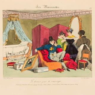 Costume & Caricature.- Monnier (Henri) [Six Suites of Plates], Paris