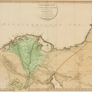 Egypt.- Faden (William) Lower Egypt and the Adjacent Deserts, with