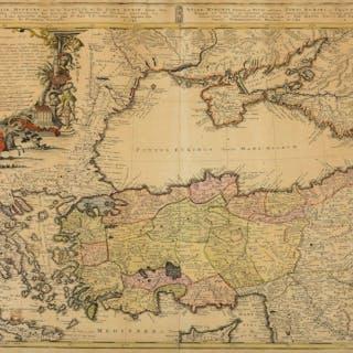 Turkey.- Homann Heirs. Carte de l'Asie Mineure ou de la Natolie et