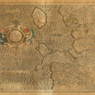 Wales & North West England.- Mercator (Gerard) West Morlandia, Lancastria