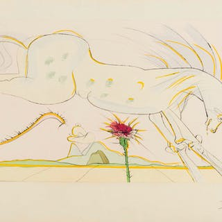 Salvador Dali (1904-1989) The Horse and The Wolf (Field 74-1-L; M&L