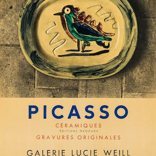 Pablo Picasso (1881-1973) (after) A poster for Picasso Ceramiques
