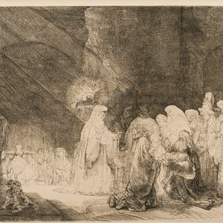 Rembrandt van Rijn (1606-1669)  The Presentation in the Temple: Oblong